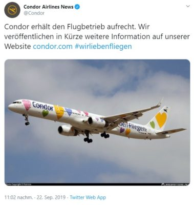 Condor Airlines twitter