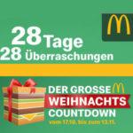 McDonald's Weihnachtscountdown z.B. Doppelpack Menü für 6,99€ + Gratis Red Bull 0,25 L (11.11.2019)