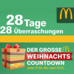 McDonald's Weihnachtscountdown z.B. heute McMenü Small für 3,99€ + Gratis Lipton Green Ice Tea