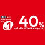 40% Rabattaktion XXXLutz