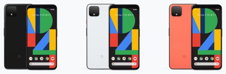 Google Pixel4 Farben