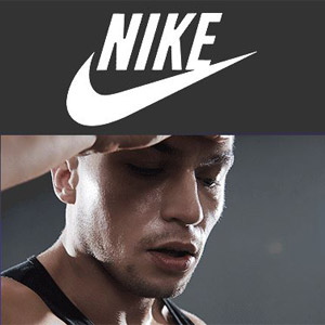 Nike-Mann-schwitzt