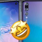 Samsung Galaxy S10e Huawei P20 Pro Emoji