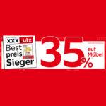 XXXLutz: 35% Rabatt auf über 8.000 Artikel - Möbel, Matratzen, Schränke uvm.