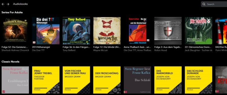 AudiobooksTIDAL
