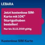 GRATIS Lebara SIM-Karte + 10€ Startguthaben im Telekom-Netz - Prepaid