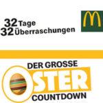 *Ankündigung* McDonald's Ostercountcountdown z.B. McFlurry für 1€, Gratis Socken und mehr (19.02. - 24.03.)