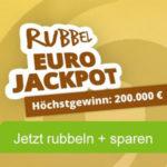 """Rubbellos der Woche: """"EuroJackpot""""-Rubbellos mit bis zu 200.000€ Hauptgewinn- 20% Rabatt - für Neu- und Bestandskunden"""