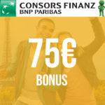 75€ Bonus für beitragsfreie Consors Finanz Mastercard