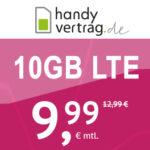 *Endet* Mtl. kündbar: 10GB LTE Allnet-Flat für 9,99€ (o2-Netz bei handyvertrag.de / Drillisch) - nur bis 26.02., 11 Uhr