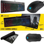 Saturn: Corsair 3in1 Gaming Bundle (Tastatur+Maus+Mauspad) für 66€ statt 100€