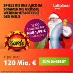 El Gordo Sommerlotterie: 1/100-Los für 1,99€ (statt 4,99€) - über 120 Mio. € Gesamtgewinn *Lottoland Neukunden*
