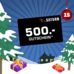 Adventskalender 2019 - Türchen 15: 500€ Gutschein von Saturn gewinnen