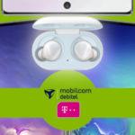 Telekom-Netz: Galaxy S10 Plus / Note 10 + GRATIS Galaxy Buds + 6GB LTE Allnet-Flat für 26,99€/Monat - Gesamtkosten bis zu 234€ unter Gerätewert