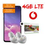 *Irre: 340€ Mega-Ersparnis!* Samsung Galaxy S10e + GRATIS Galaxy Buds + GRATIS Xbox / AKG Kopfhörer + 4GB LTE Allnet-Flat für 17,99€/Monat (Tarif eff. kostenlos!) - Vodafone-Netz
