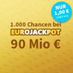 *Heute* 90 Mio € Eurojackpot: 3 Tipps für 2€ (statt 6€) // 1.000 Chancen für 1€ (statt 10€) - Lottohelden-Neukunden - Spezial-Jackpot