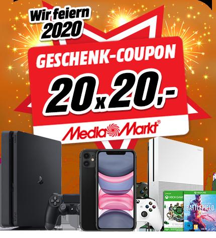 20 x 20€ MediaMarkt Gutschein gewinnen!