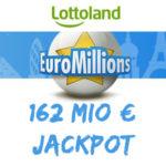 """162 Mio € im EuroMillions Jackpot: 2 Felder + 10x Rubbellos """"Knack das Sparschwein"""" für 2,50€ (statt 8,50€) - Lottoland-Neukunden"""