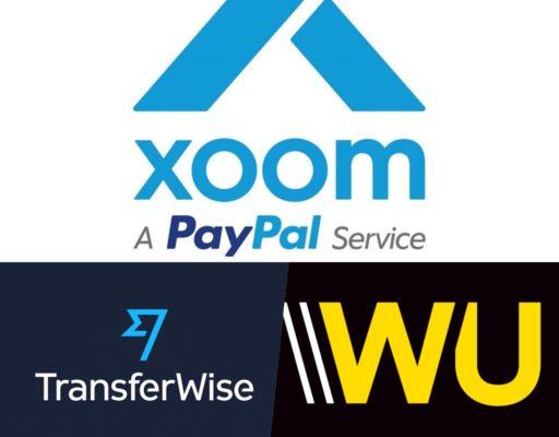 Xoom_Tranferwise_Westernunion