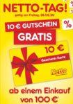 Gratis 10€ Geschenkkarte bei einem Einkauf von 100€ 🤩 (Netto MD nur am 18.09.)