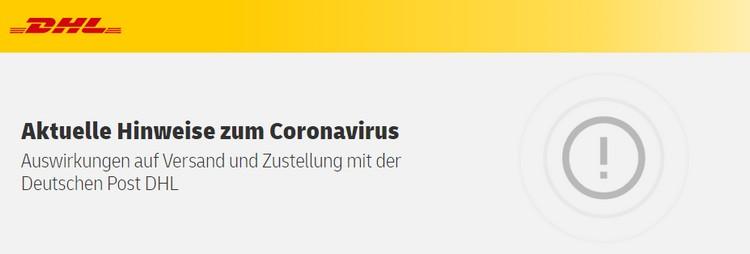 DHL Coronavirus