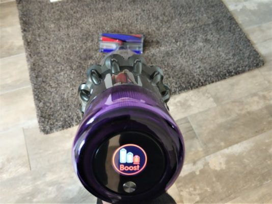 Dyson V11 Absolute Akkustaubsauger Teppiche Boost Saugmodus