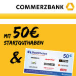 100€ Bonus für Commerzbank Girokonto (kostenlos mit Mindestgeldeingang) *nur bis 31.01.*