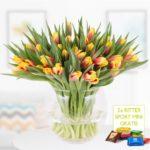 40 bunte Tulpen für 24,90€ inkl. Versand + 2 Mini Schokis