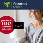 Strom/Gas bei freenet Energy + bis 115€ Amazon.de Gutschein abstauben