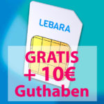 *TOP* 🎁 GRATIS Lebara SIM-Karte + 10€ Startguthaben im Telekom-Netz (Prepaid, 3x bestellbar)