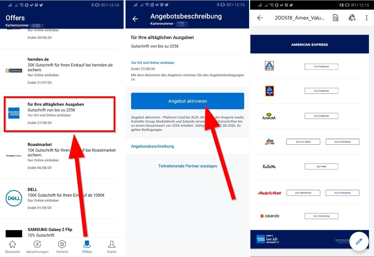 💳 AMEX Offer: Bis zu 6€ Cashback für Einkäufe (u.a. dm, Zalando)