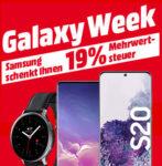 Samsung Galaxy-Produkte mit 19% MwSt.-Erlass bei MediaMarkt - z.B. Galaxy S20 / S10 / Smartwatches u.v.m.