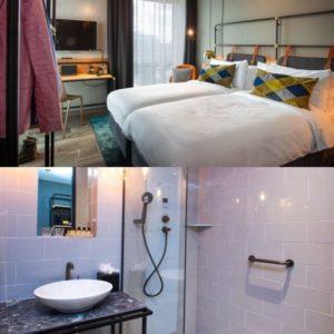 Schlaf- und Badezimmer