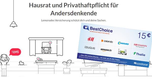 Lemonade-Haftpflicht-Hausrat-bonus-deal-uebersicht