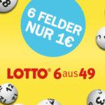 *5 Mio € Jackpot* 6 Felder Lotto 6aus49 für 1€ (statt 6€) - Lottohelden-Neukunden