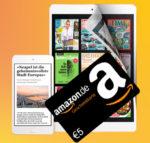 😲📰 Letzter Tag: 5€ Amazon.de-Gutschein abstauben + 3 Monate Readly für 0,99€ (= 4€ Gewinn!)