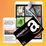 😲 GRATIS: 5€ Amazon.de-Gutschein (dank 2 GRATIS-Monaten von Readly / keine Kosten!)
