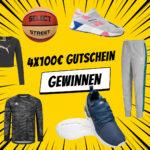 Gewinnspiel: 4x 100€ SportSpar-Gutschein gewinnen