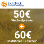 🌻 Ökostrom+Ökogas bei LichtBlick: 60€ Bonus (monatlich kündbar!)