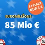 *85 Mio € Jackpot bei EuroMillions* 1x Gratis-Tipp // 3 Felder für 3€ (statt 9€) - Lottohelden Neukunden + Bestandskunden-Aktion