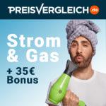 ⚡ Preisvergleich.de Strom + Gas: 35€ Bonus für jeden Wechsel oder Neuabschluss!