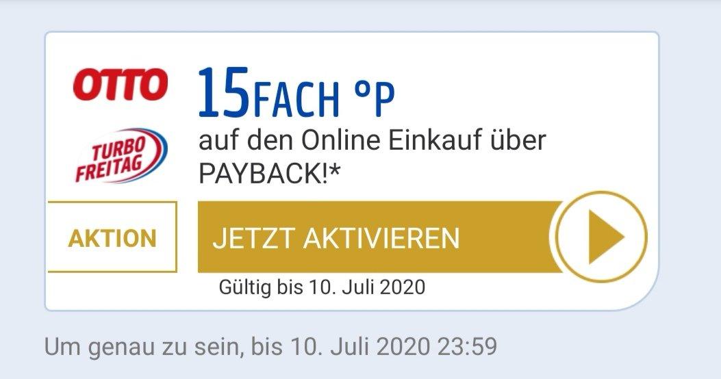 15 x Payback bei Otto Turbo Freitag