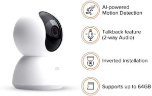 Xiaomi Mi Home Security Smart 360° Kamera 1080P HD Nachtsicht Kamera