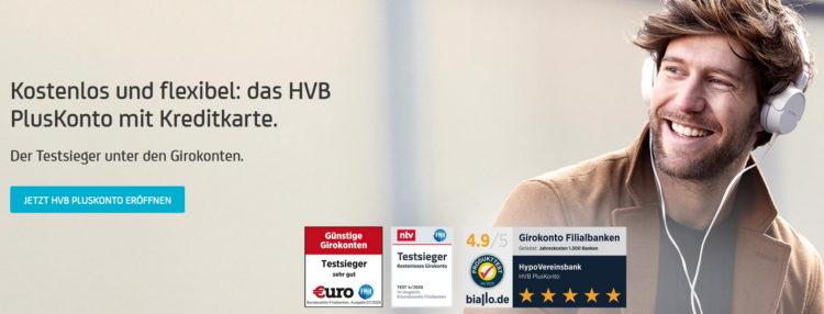 HVB Plus Konto mit 100€ Amazon Gutschein