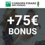 🔥 Verlängert! 💳 75€ Bonus für Consors Finanz Mastercard
