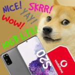 *Galaxy S20 Kracher!* 😲 S20 für 8,77€ + 10GB LTE Vodafone Allnet für nur 24,99€/Monat -- Tarif effektiv GRATIS! (MediaMarkt & Saturn)