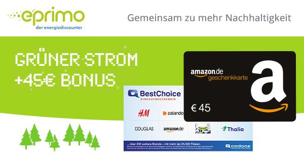 45€ für eprimo Stromvertrag