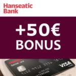 ⏰ Letzte Chance!🌴 50€ Bonus für gebührenfreie Hanseatic GenialCard + weltweit keine Gebühren