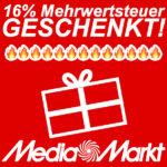 MediaMarkt schenkt euch die Mehrwertsteuer - 16% auf ALLES, Nintendo Switch, TVs u.v.m.!
