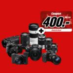 Sony Kameras + Objektive mit bis zu 400€ MediaMarkt Geschenk-Coupon - z.B. Sony Alpha 7 M3 für eff. 1.515,38€ (statt 1.795€)